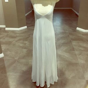 EUC Victoria Secret White Maxi Strap Dress
